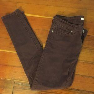 Levi 711 Maroon Skinny Jeans Size 28